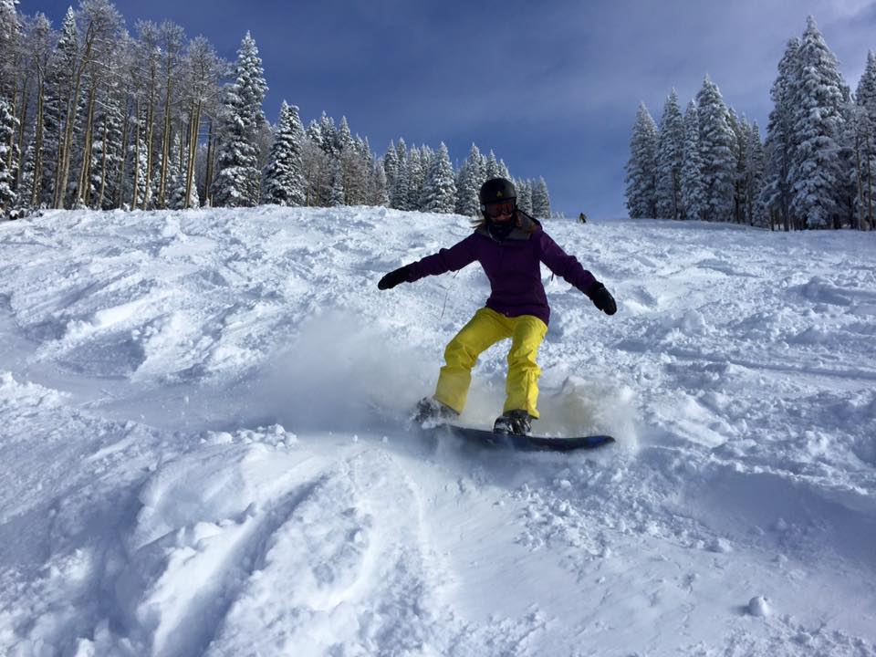 Emily hitting the stunning slopes of Colorado